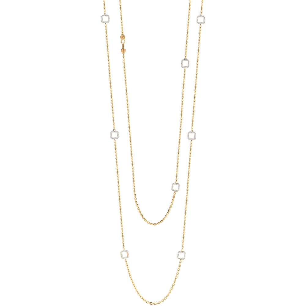 "18k Gold & Diamond ""Metropolis"" Long Necklace"