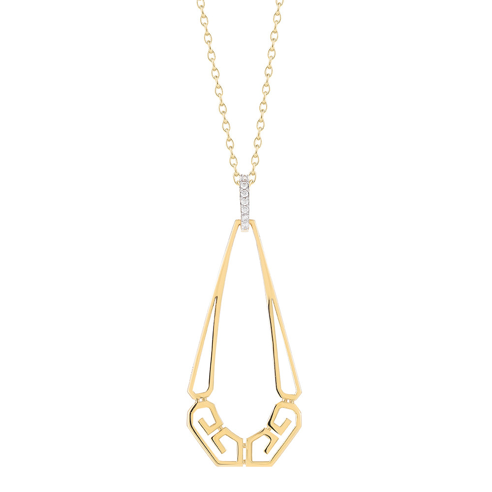 "18k Gold ""Metropolis"" Pendant Necklace"