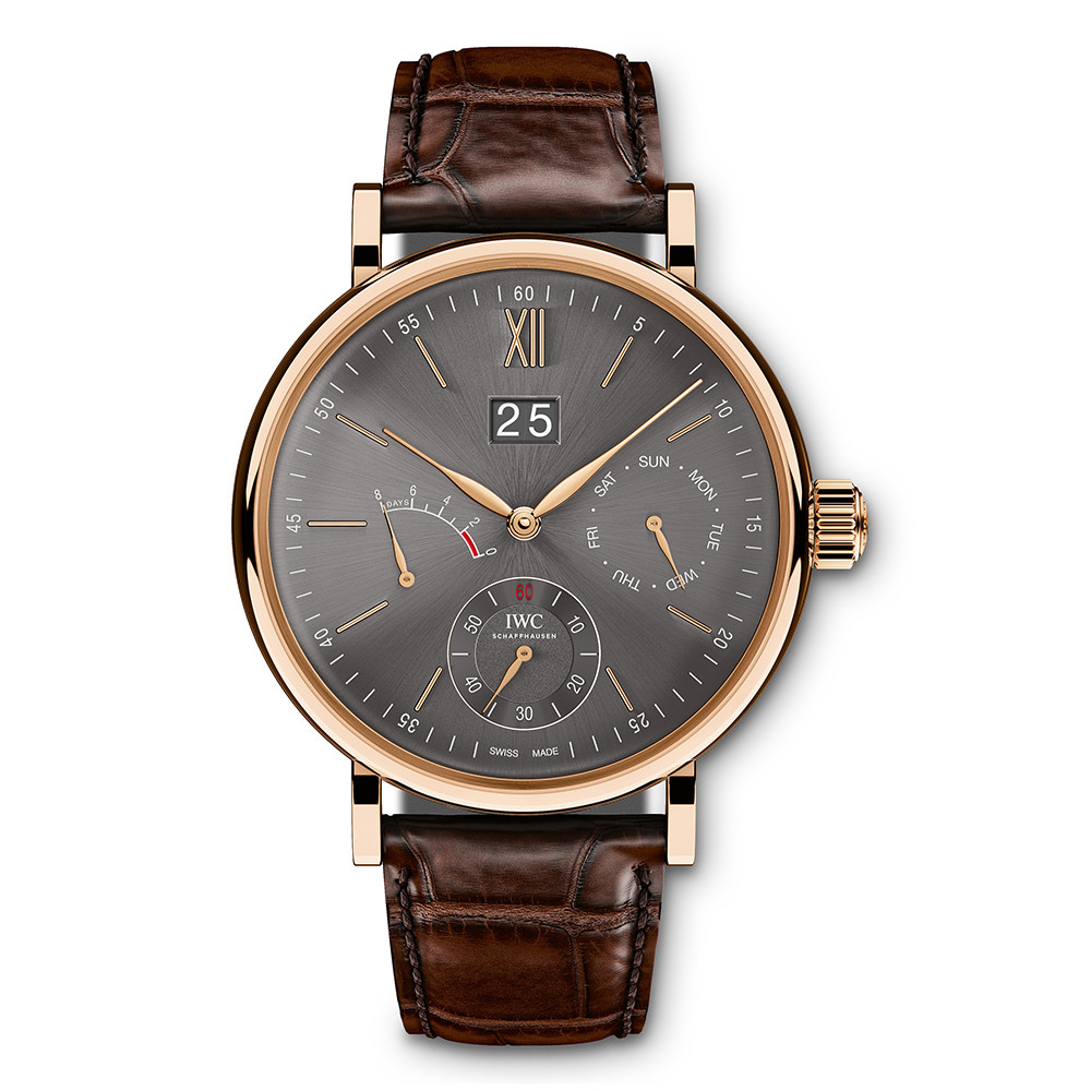 Portofino Hand-Wound Day & Date Rose Gold (IW516203)