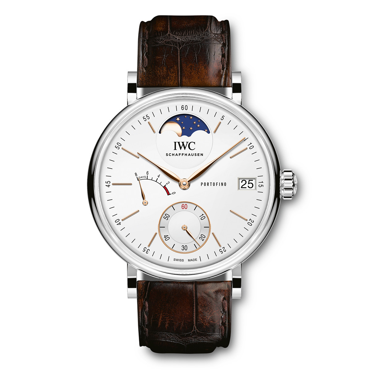 Portofino Hand-Wound Moon Phase Steel (IW510106)