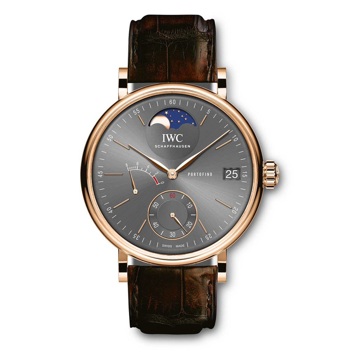 Portofino Hand-Wound Moon Phase Rose Gold (IW516403)