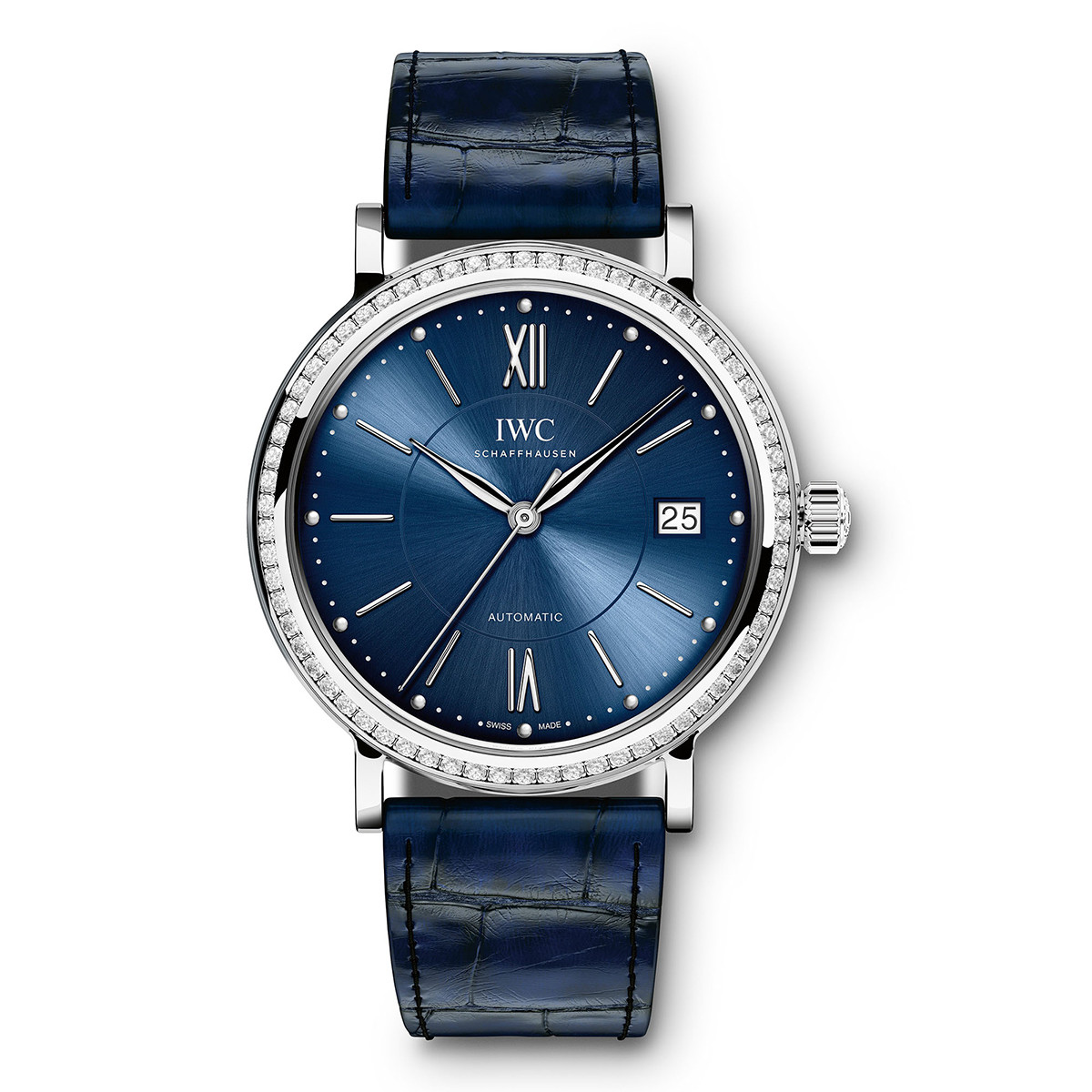 Portofino Automatic 37 Steel & Diamonds (IW458111)