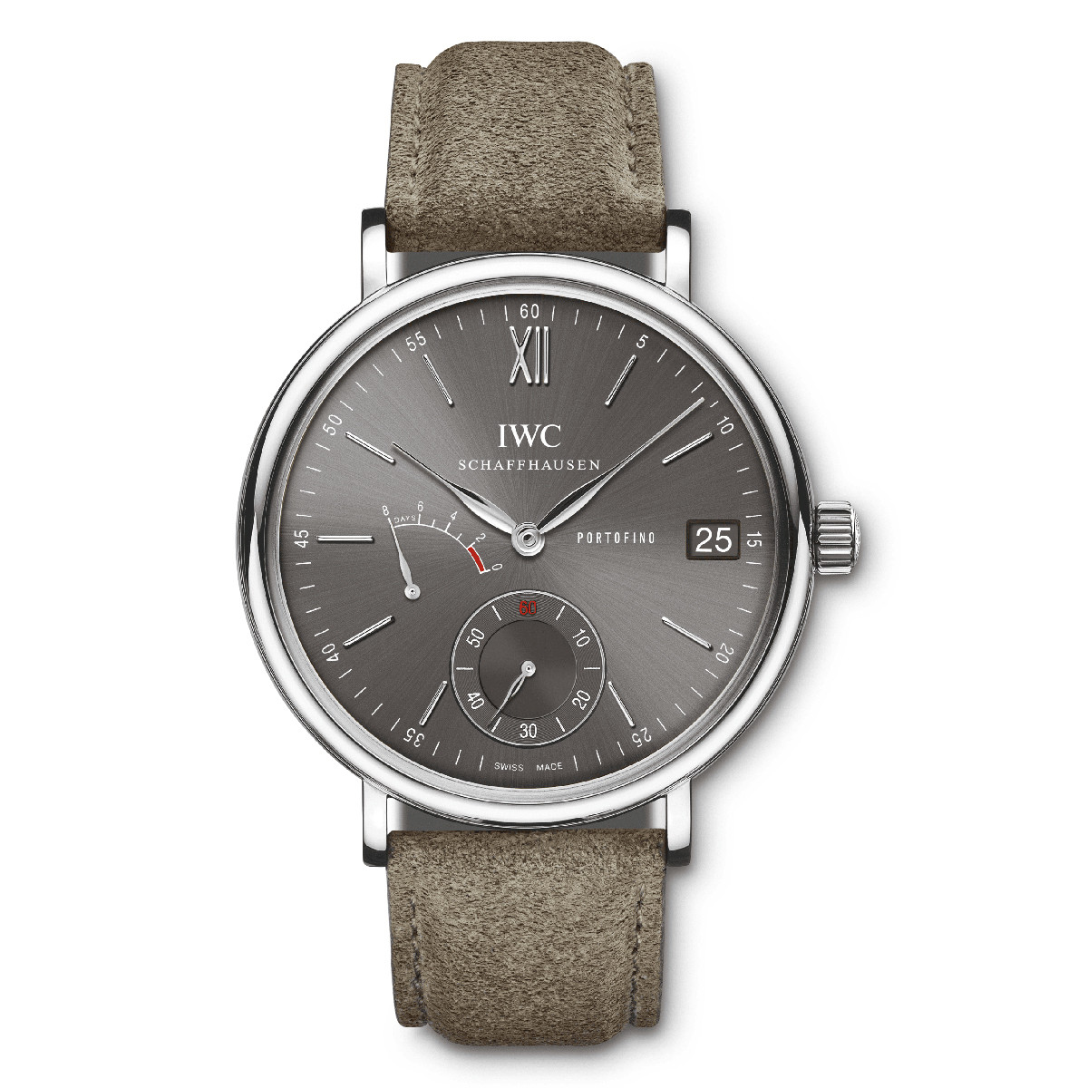Portofino Hand-Wound 8-Days Steel (IW510106)