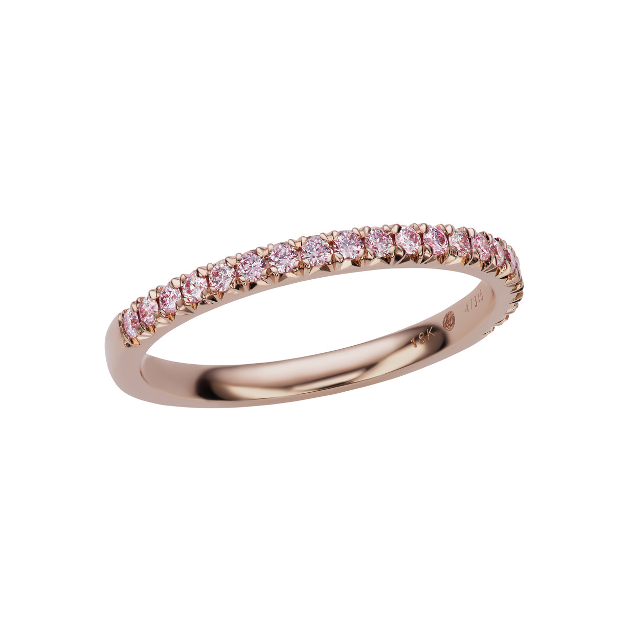 Pink Diamond Partway Band Ring (0.18ct tw)