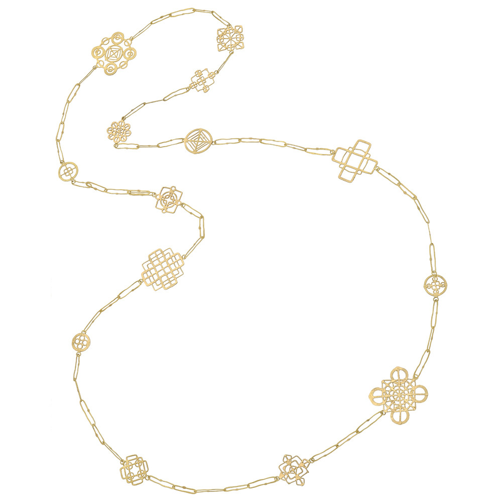 """18k Yellow Gold """"Wheel"""" Chain Necklace"""