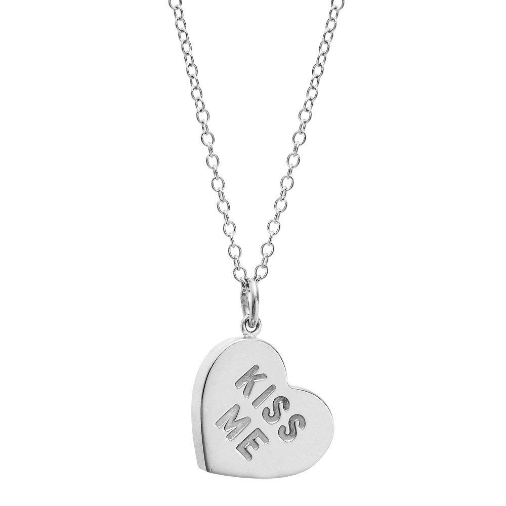 "Silver ""Heart Candy"" Pendant/Charm"