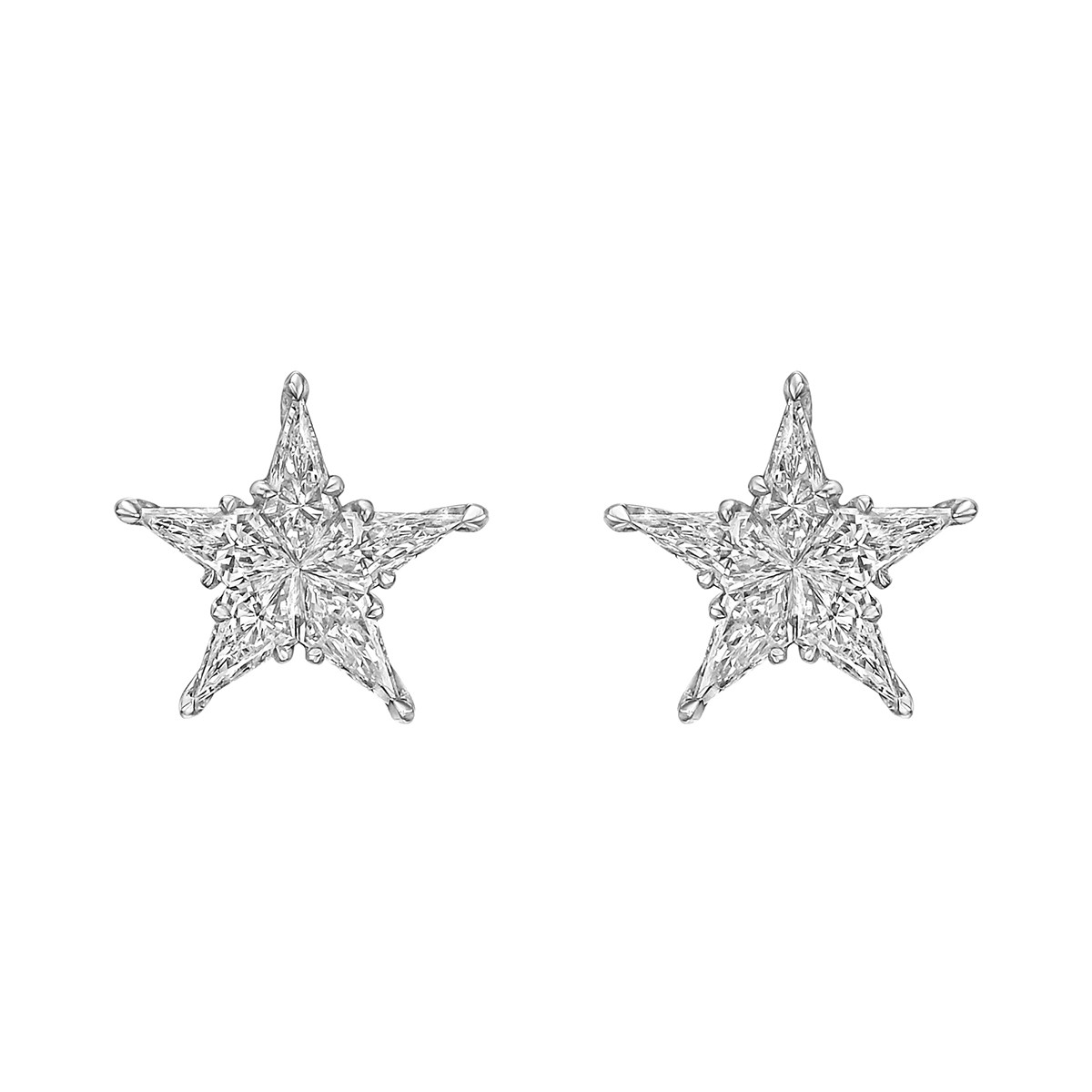 Kite Diamond Cluster Star Earrings