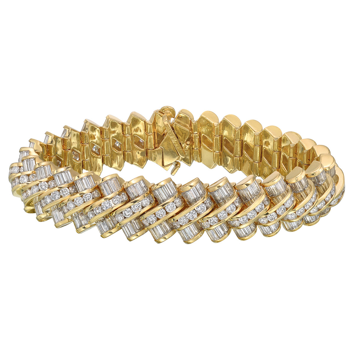 Krypell 18k Yellow Gold & Diamond Bracelet