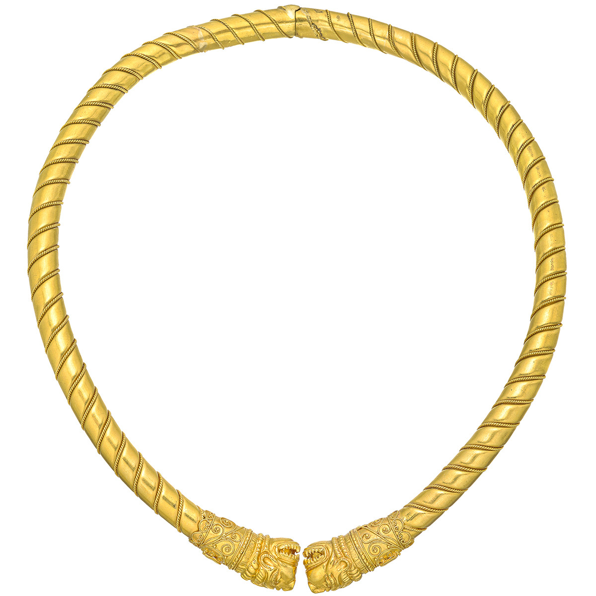 22k Yellow Gold Dragon Collar Necklace