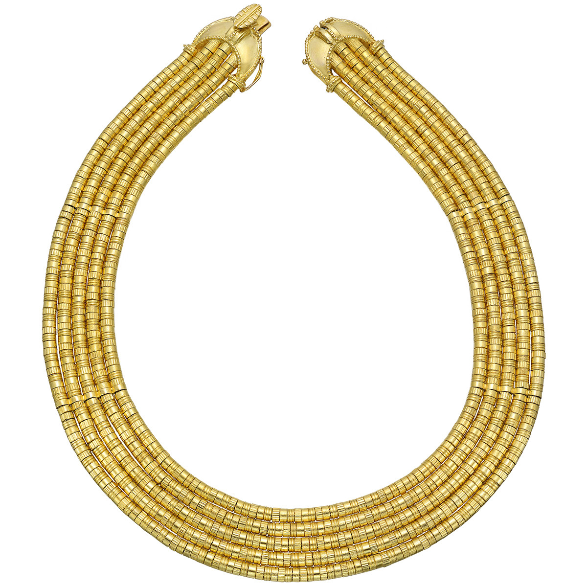 18k Yellow Gold 5-Row Link Necklace