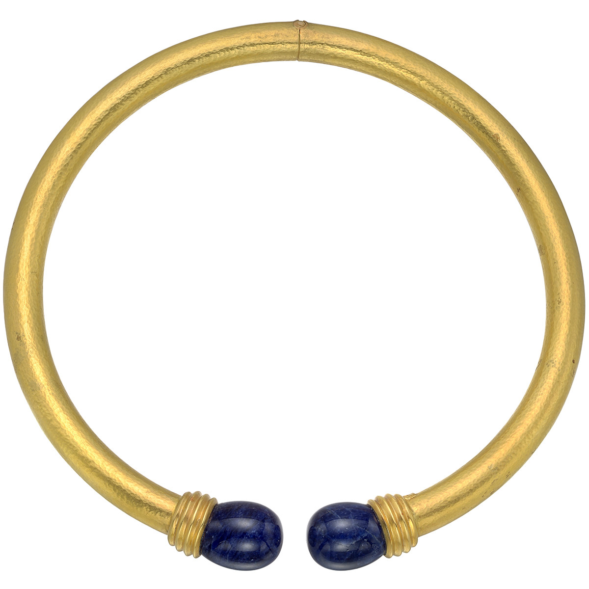 18k Yellow Gold & Lapis Collar Necklace