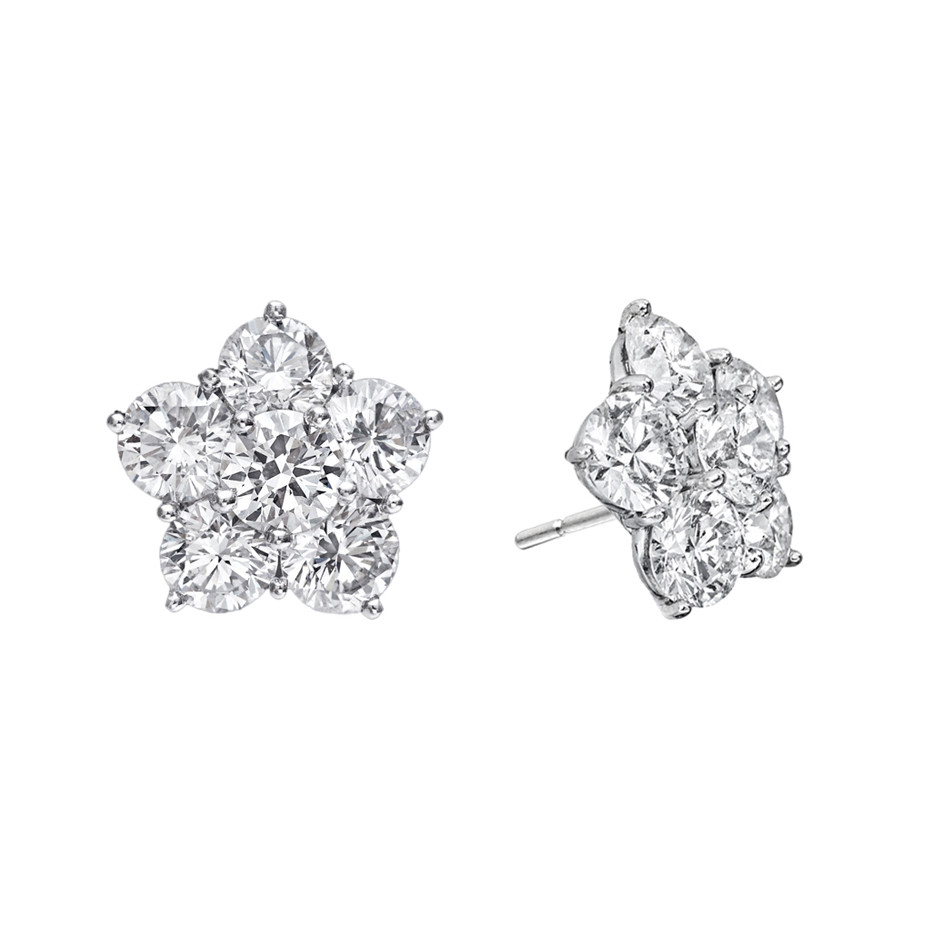 "Large Diamond ""Astra"" Stud Earrings (4.82tcw)"