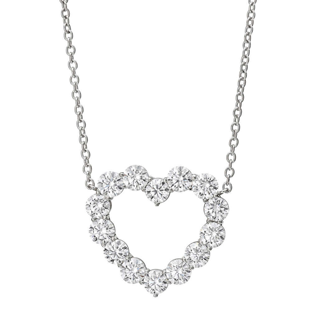 Large Diamond Heart Pendant (3.36 ct tw)