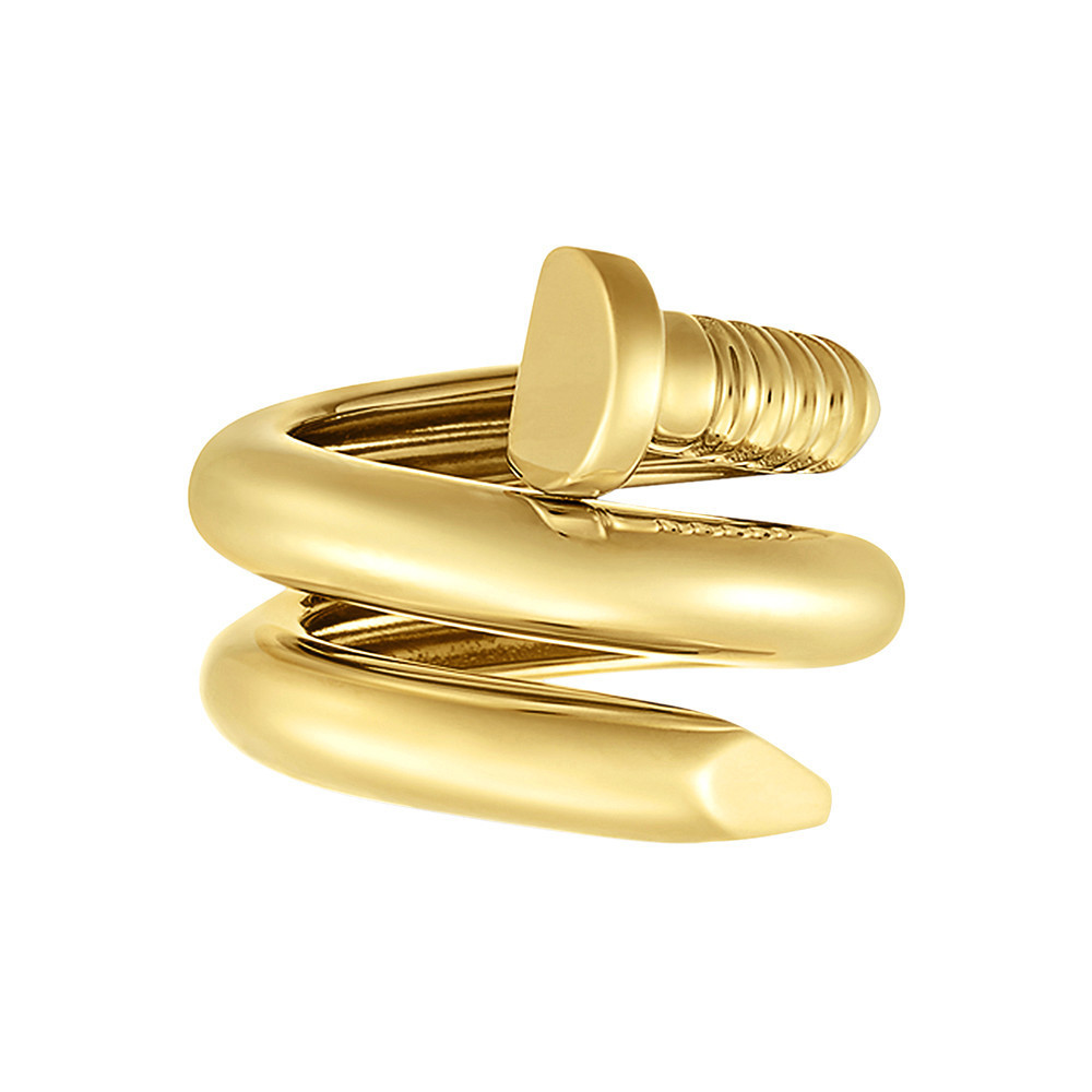 "Polished 18k YG ""Nail"" Ring"