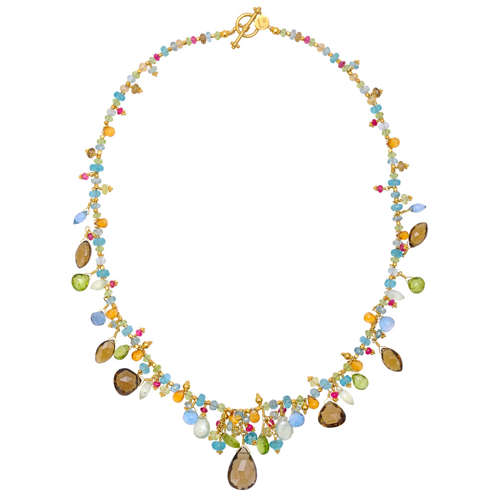 Multicolored Gemstone Bead Necklace