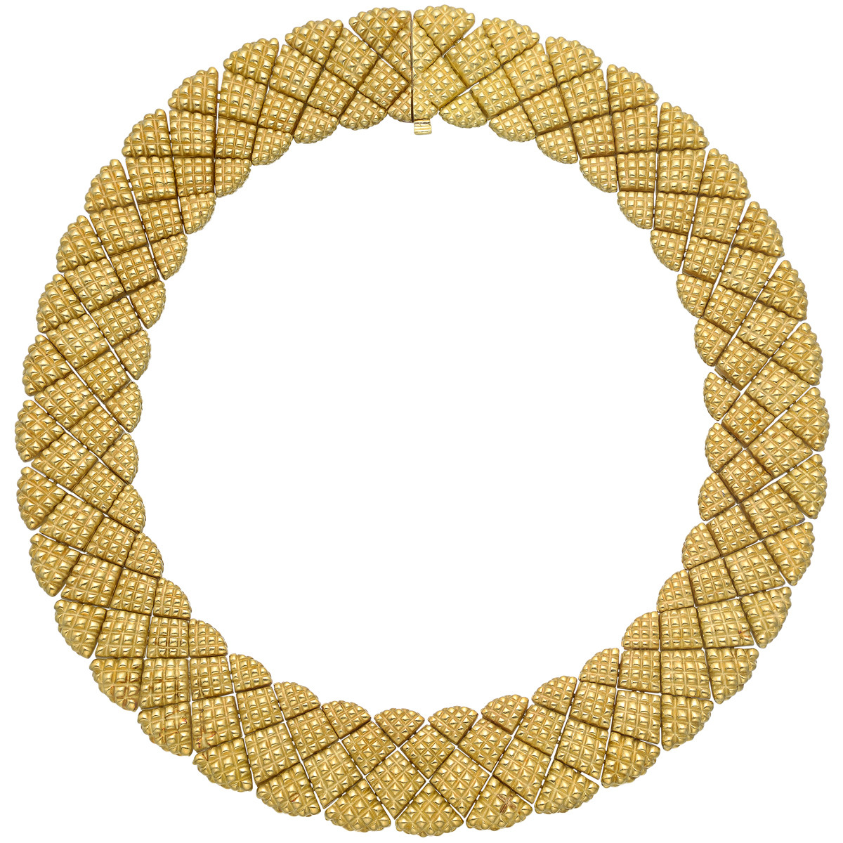 Geometric 18k Yellow Gold Collar Necklace