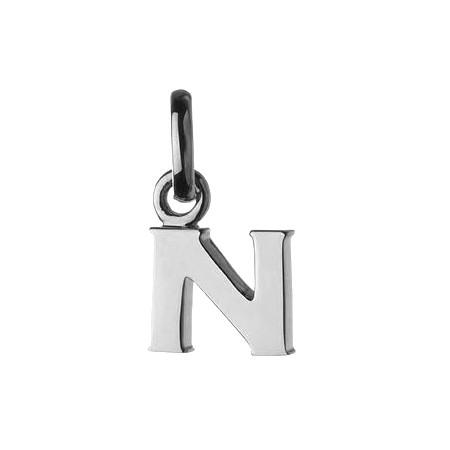 Silver Letter 'N' Charm