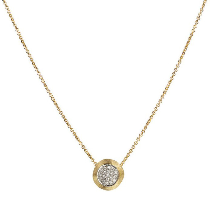 "18k Yellow Gold & Diamond ""Delicati"" Pendant"