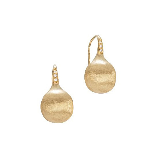 "18k Yellow Gold & Diamond ""Africa"" Drop Earrings"