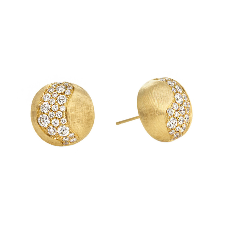 "18k Gold & Diamond ""Africa Constellation"" Stud Earrings"