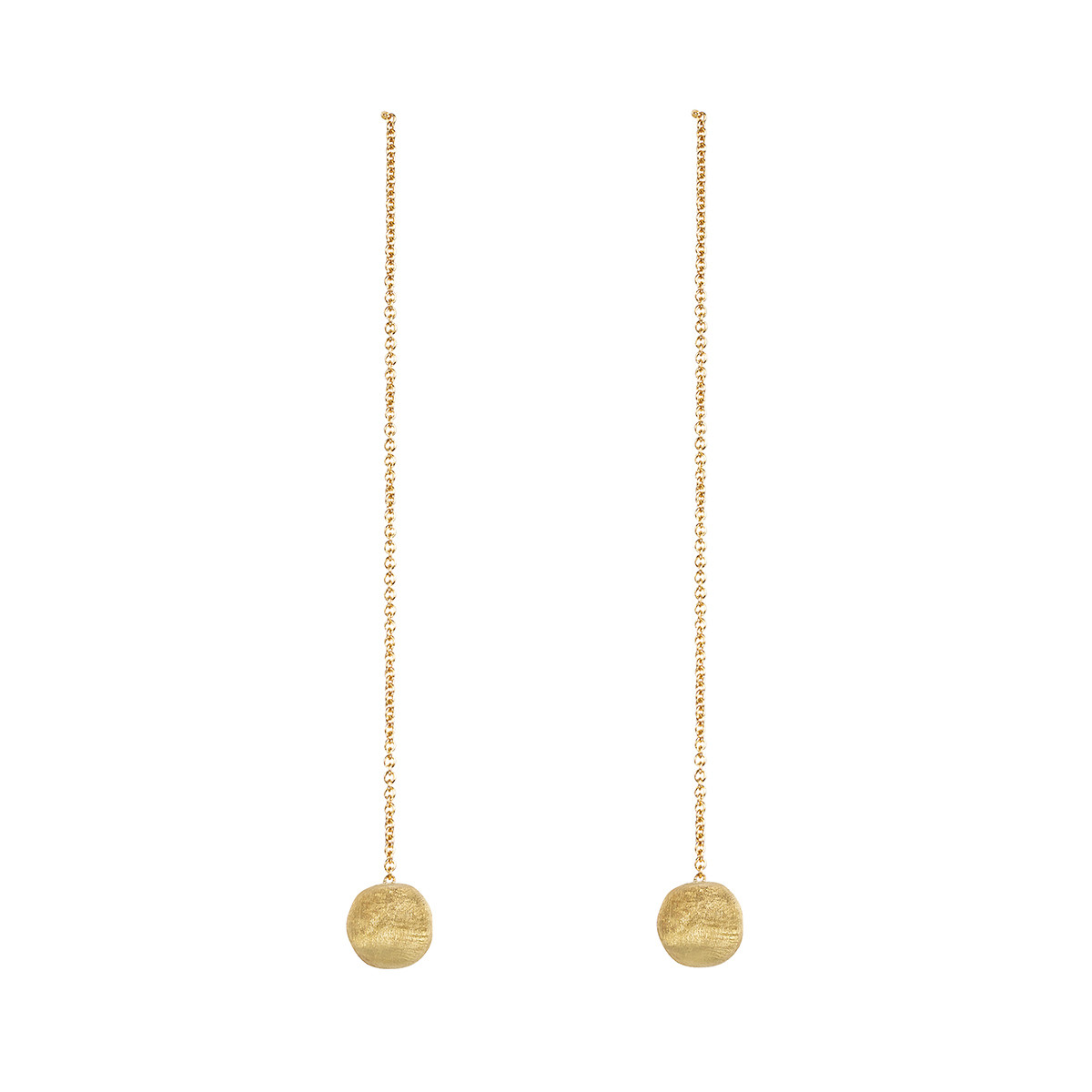 "18k Yellow Gold ""Delicati"" Chain Drop Earrings"