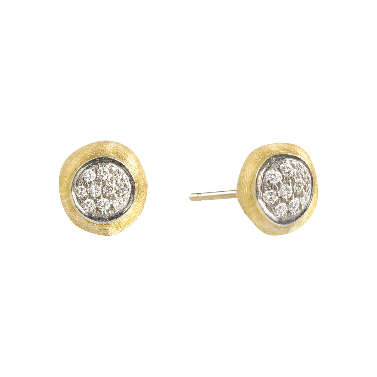 "18k Yellow Gold & Diamond ""Delicati"" Stud Earrings"