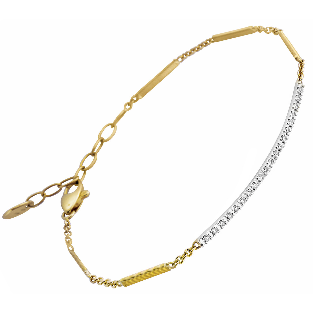 "18k Gold & Diamond ""Goa"" Bar Bracelet"