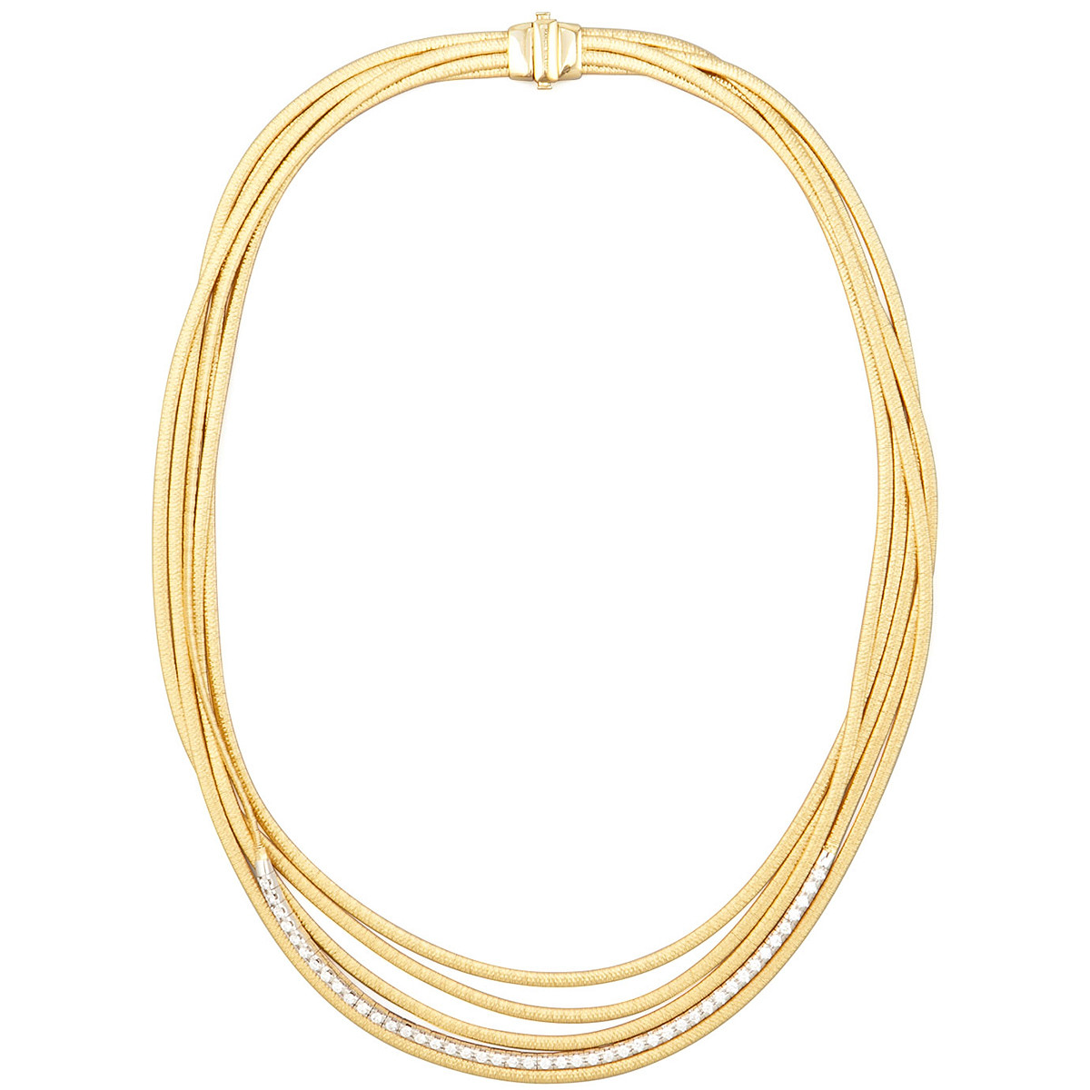 "18k Gold & Diamond ""Il Cairo"" 5-Strand Necklace"