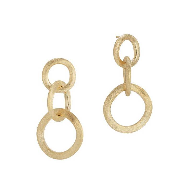 "18k Yellow Gold ""Jaipur"" Link Drop Earrings"