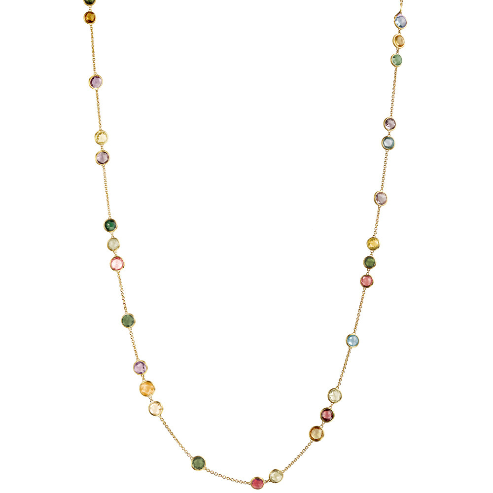 "18k Yellow Gold ""Jaipur Color"" Long Necklace"