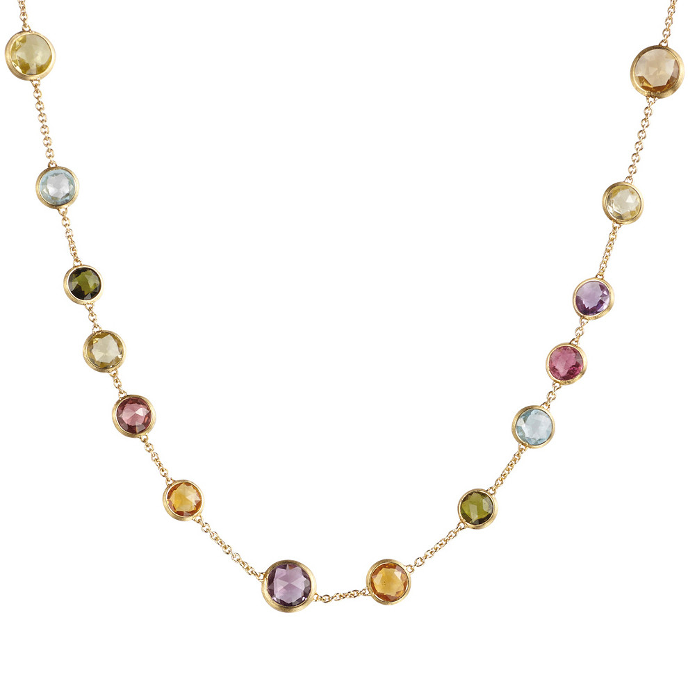 "18k Yellow Gold ""Jaipur Color"" Bead Necklace"