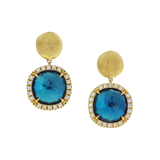 "London Blue Topaz & Diamond ""Jaipur"" Drop Earrings"