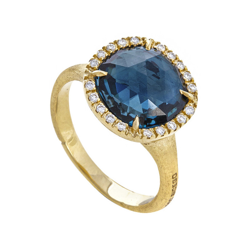 "London Blue Topaz & Diamond ""Jaipur"" Ring"