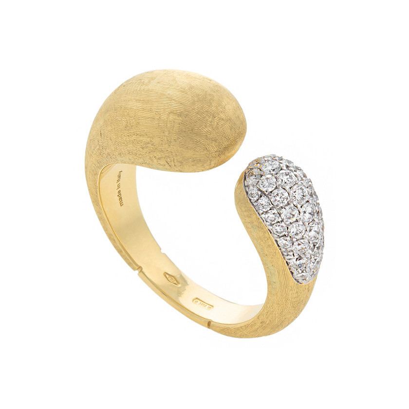 "18k Gold & Diamond ""Lucia"" Kissing Ring"