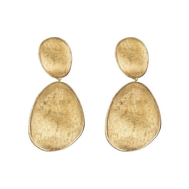 "Large 18k Yellow Gold ""Lunaria"" Drop Earrings"