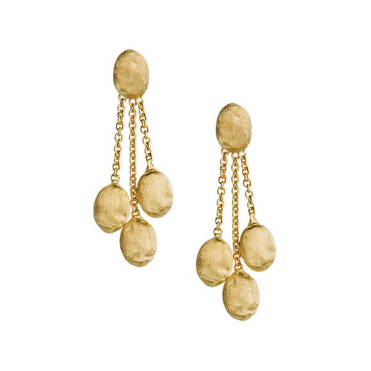 "18k Yellow Gold ""Siviglia"" 3-Drop Earrings"