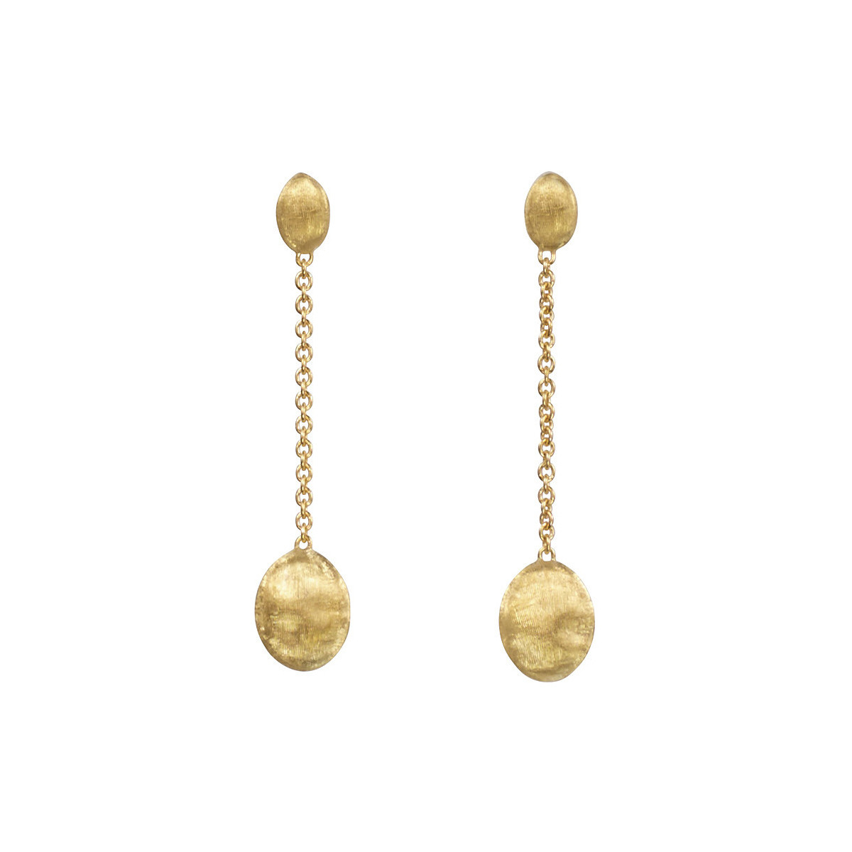"18k Yellow Gold ""Siviglia"" Chain Drop Earrings"