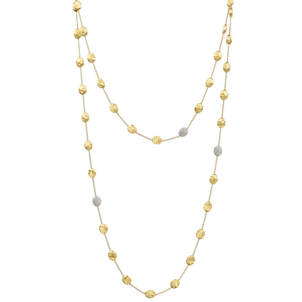 "18k Gold & Diamond ""Siviglia"" Long Necklace"