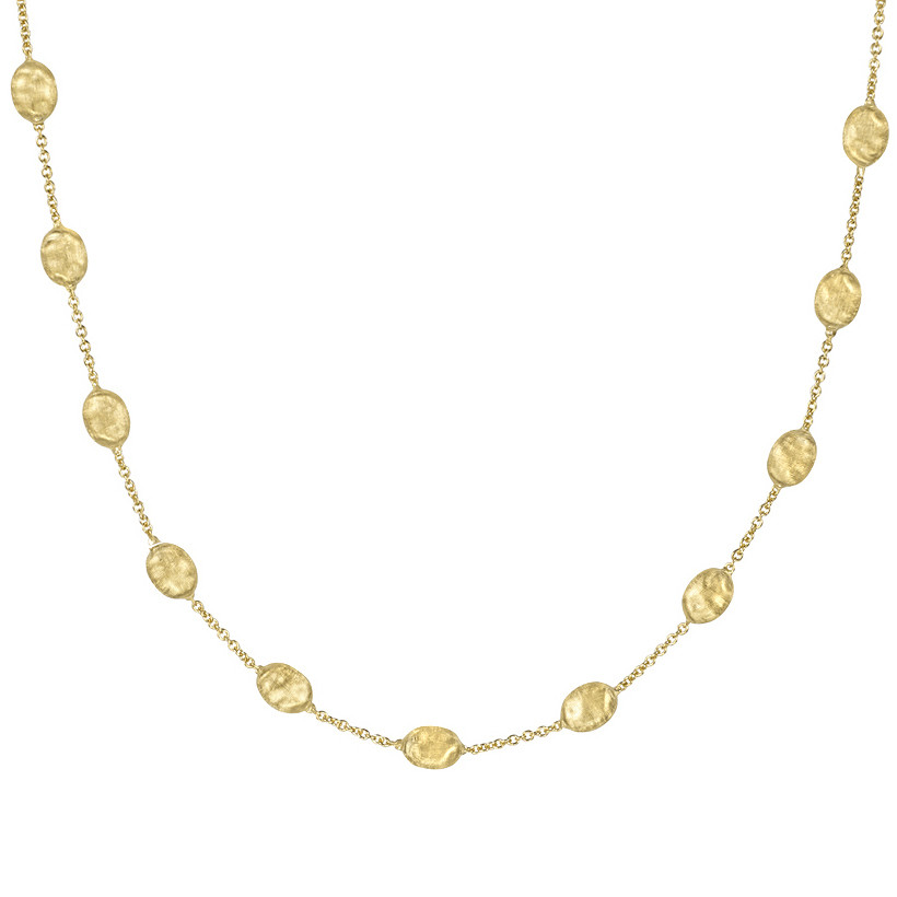 "18k Yellow Gold ""Siviglia"" Bead Necklace"