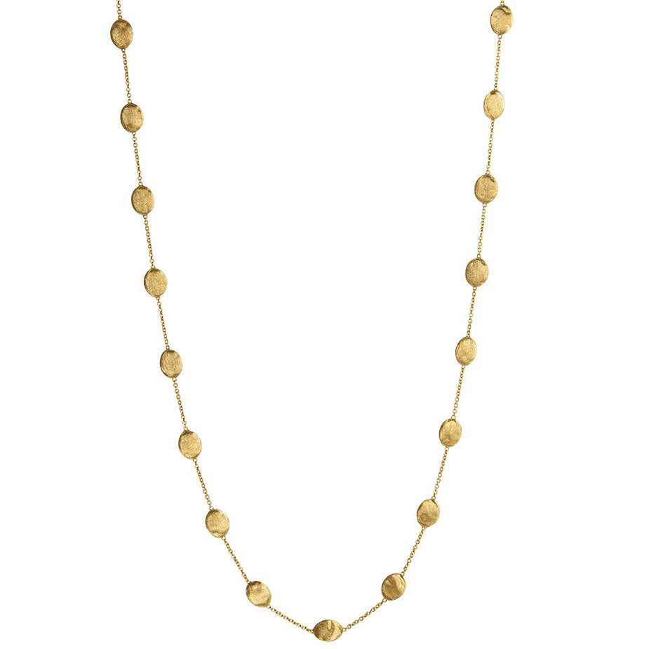 "18k Yellow Gold Large Bead ""Siviglia"" Long Necklace"