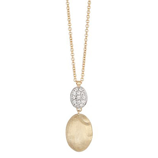 "18k Gold & Diamond ""Siviglia"" Pendant Necklace"