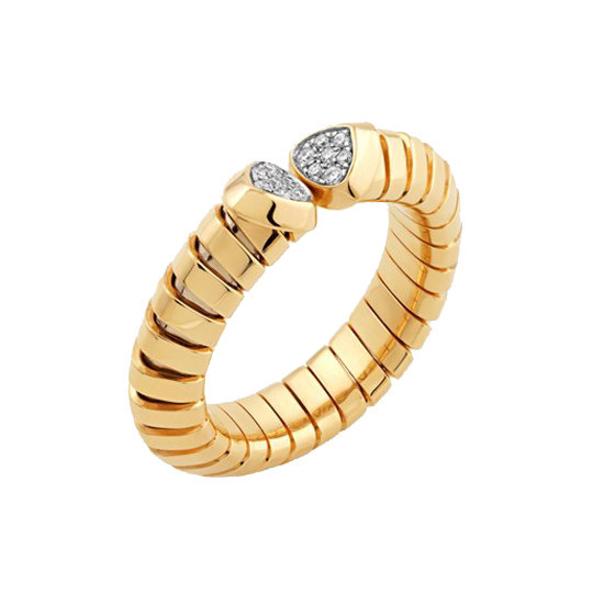 "18k Yellow Gold & Diamond ""Trisola"" Band"