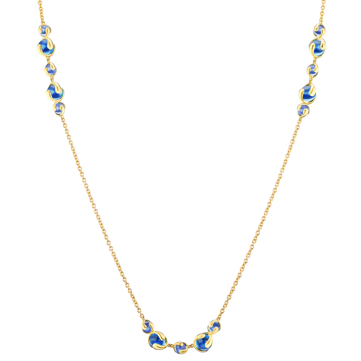 "18k Yellow Gold & Blue Quartz ""Cardan"" Necklace"