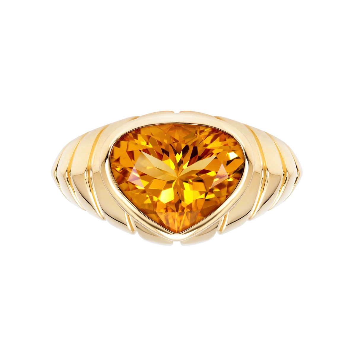 "18k Yellow Gold & Citrine ""Timo"" Ring"