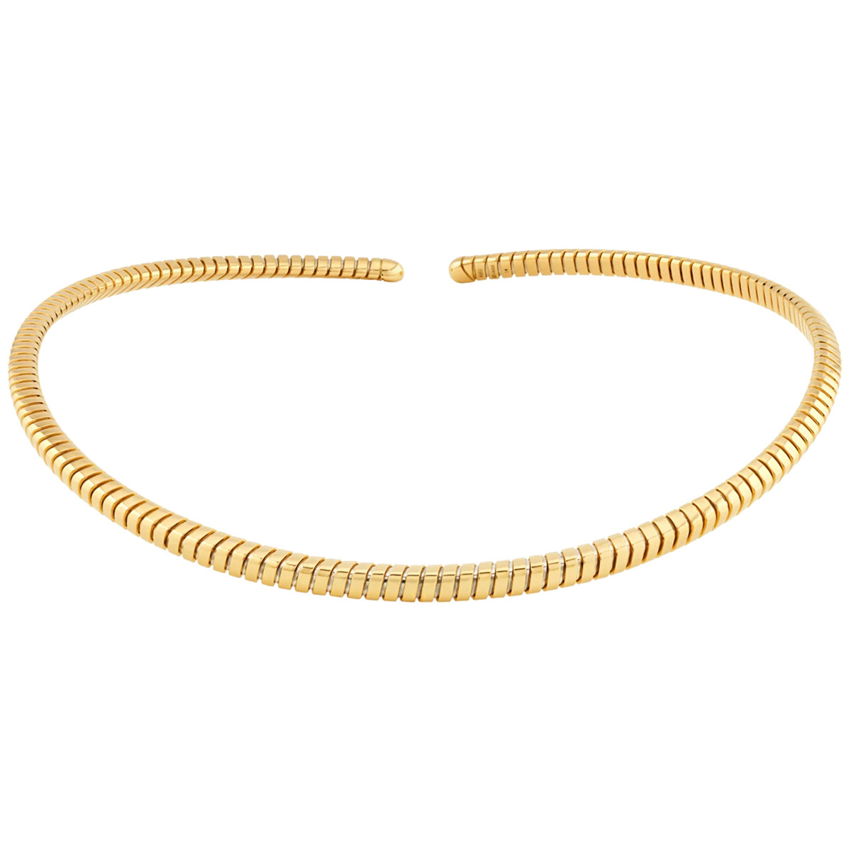 "18k Yellow Gold ""Trisolina"" Collar Necklace"