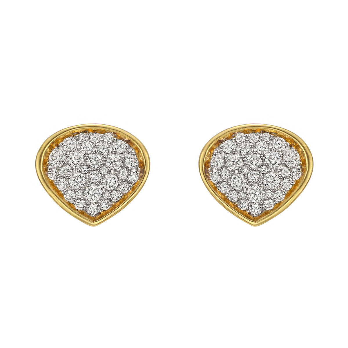 "18k Gold & Pavé Diamond ""Trisola"" Earrings"
