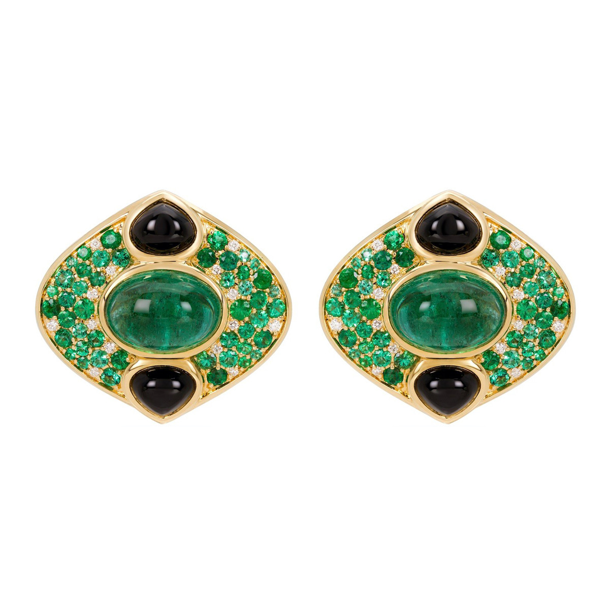 "Emerald ""Lucilla"" Stud Earrings"