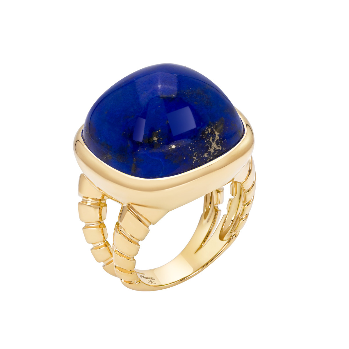 "18k Yellow Gold & Lapis ""Tigella"" Ring"