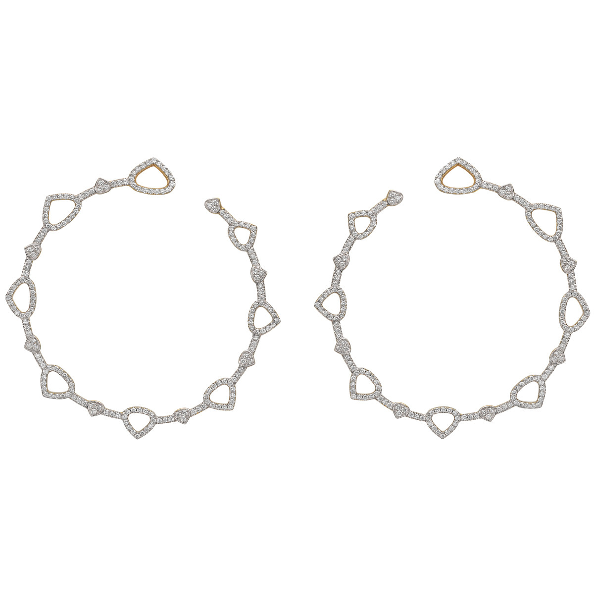 "Large Diamond ""Trina"" Hoop Earrings"