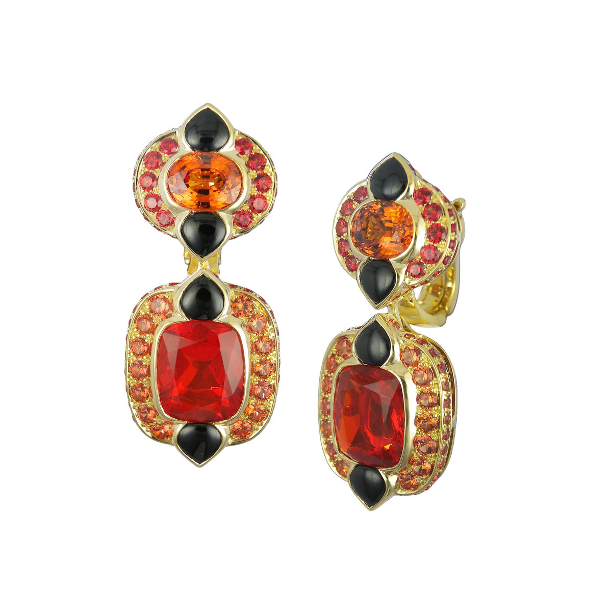 "Multicolored Gemstone ""Novia"" Drop Earrings"